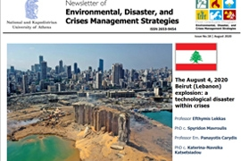 Newsletter #18 - The August 4, 2020 Beirut [Lebanon] explosion: a technological disaster within crises